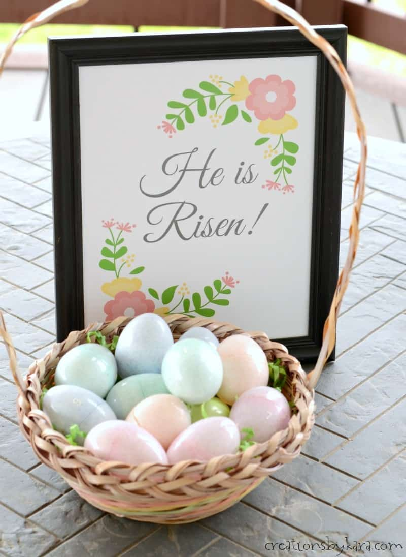 photograph regarding Resurrection Egg Story Printable referred to as Easter Egg Resurrection Lesson - He Is Risen Printable