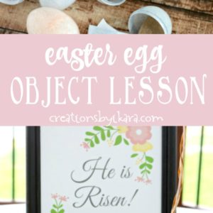Easter Egg object lesson collage