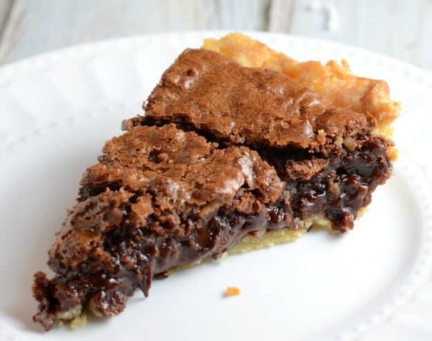 Homemade German Chocolate Pie - a sinfully rich pie that is easy to make.