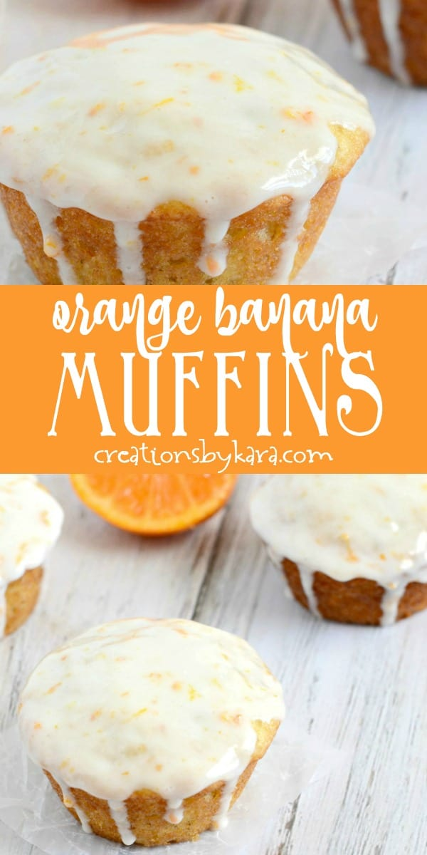 orange banana muffins collage
