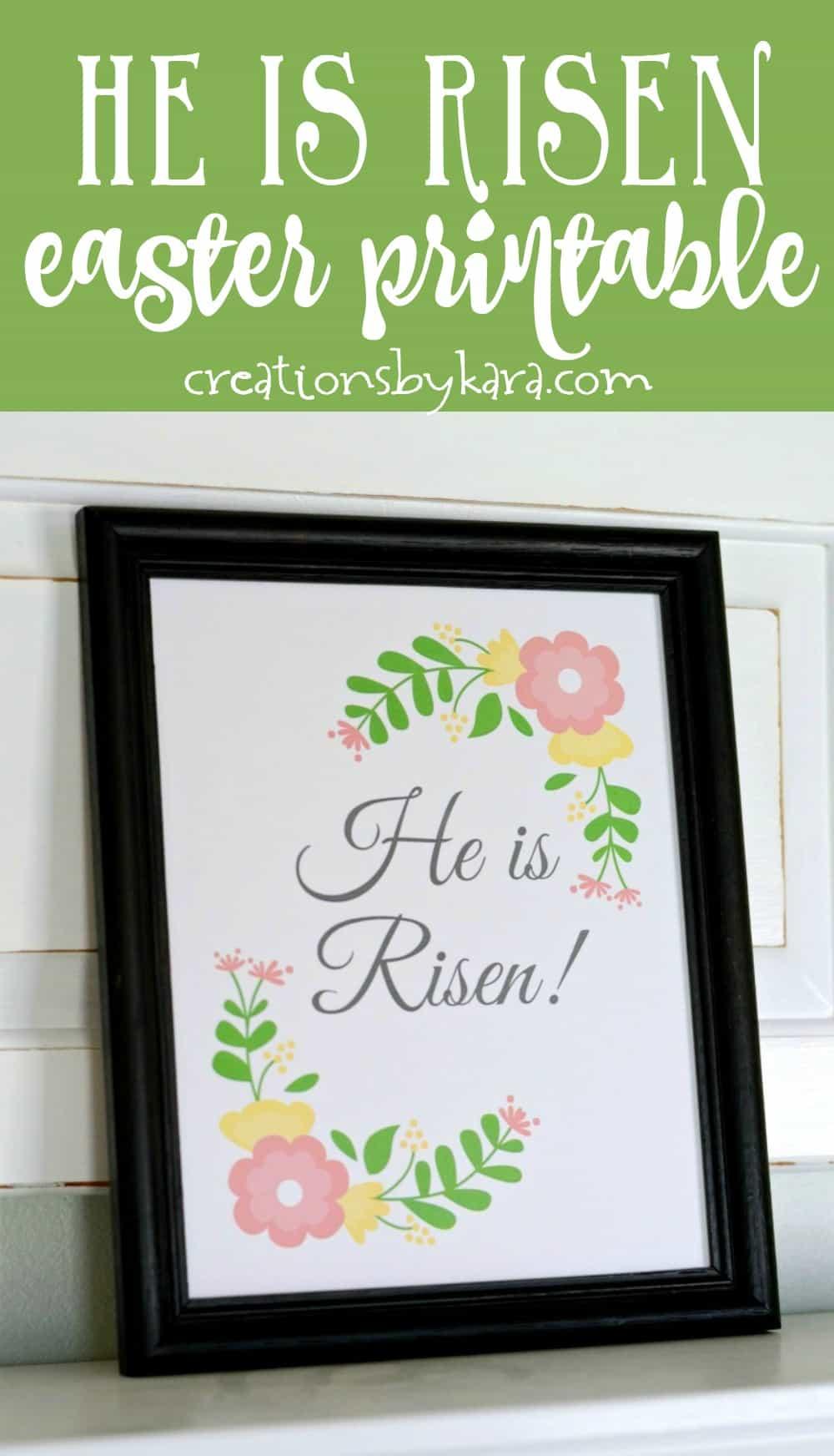 Free printable Easter Egg Resurrection Lesson - Free Easter Printable Art - He Is Risen! Christ centered Easter ideas