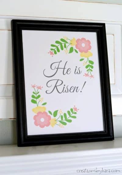 He Is Risen Easter lesson with free printable