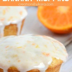 orange glazed banana muffins pinterest pin