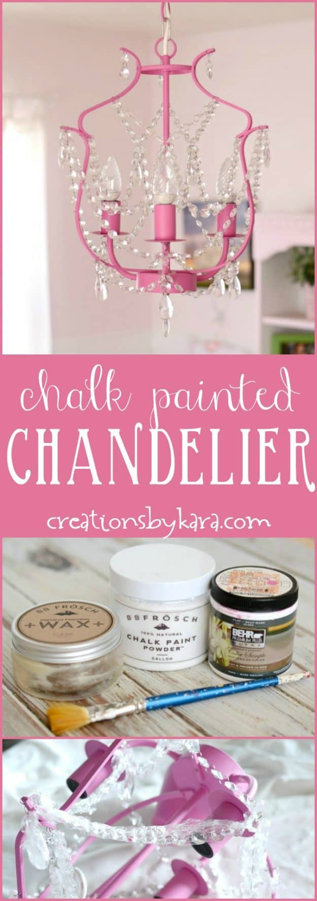 Spruce up any room in your house by painting your lighting. DIY chalk painted chandelier tutorial.