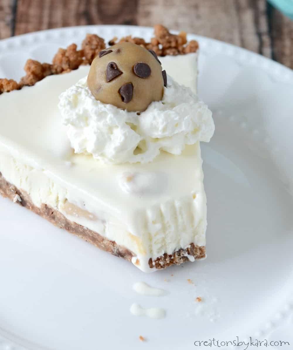 Chocolate Chip Cookie Dough Ice Cream Pie - Creations by Kara