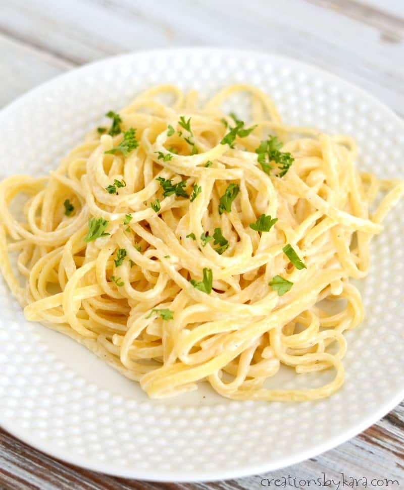 47 Super Simple Recipes Made With Canned Foods: Quick And Easy Alfredo Sauce