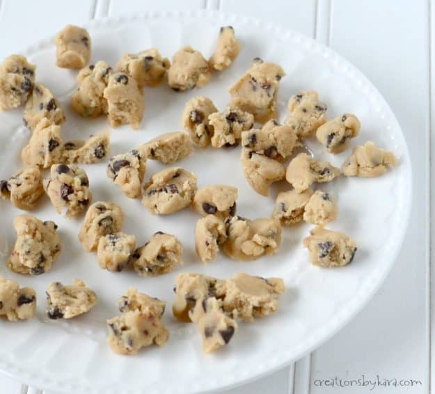Eggless cookie dough for cookie dough ice cream pie