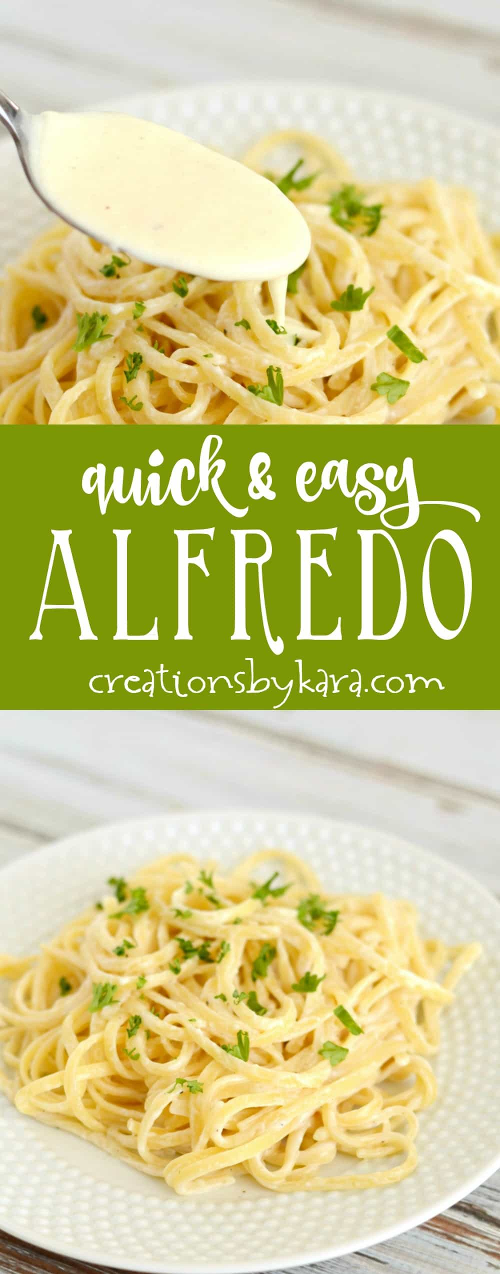 Recipe for quick and easy Alfredo Sauce. This simple alfredo sauce is a perfect last minute dinner recipe. Serve it as is, or add grilled chicken or shrimp!