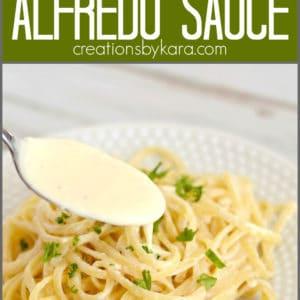 creamy alfredo sauce pinterest collage