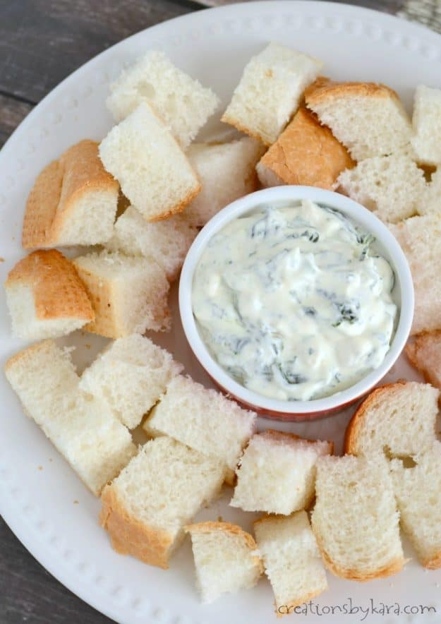 I get rave reviews every time I serve this creamy spinach dip. It is absolutely delicious!