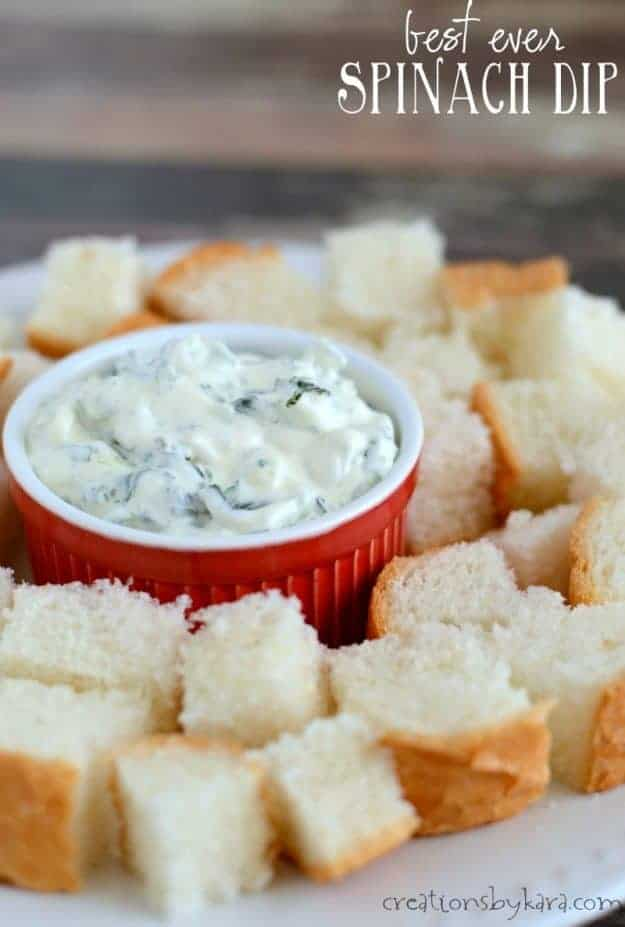 Creamy Spinach Dip is always a hit at parties. Your guests will rave over it!