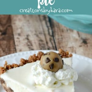 frozen cookie dough ice cream pie recipe