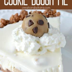 frozen cookie dough pie Pinterest Pin