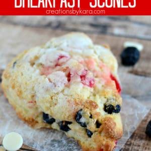 cherry berry breakfast scones recipe pinterest pin