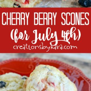 cherry berry scones with white chocolate recipe collage