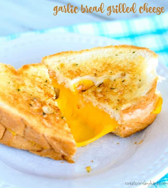 garlic bread grilled cheese title photo