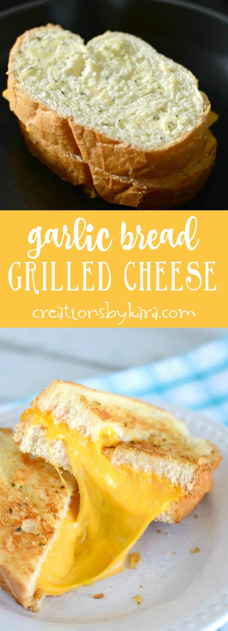 Give these garlic bread grilled cheese sandwiches a try. They are packed with flavor! A tasty update on a classic sandwich!