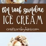 tin roof sundae ice cream recipe collage