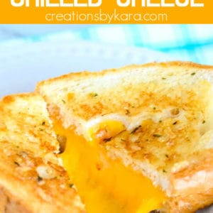 garlic bread grilled cheese pinterest pin