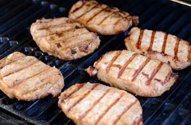 Give these grilled pork chops a try. Only five ingredients, and so flavorful!