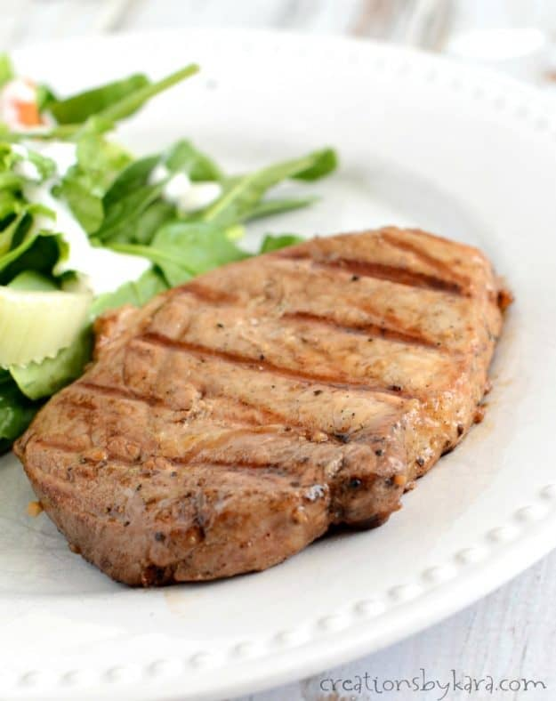 Tender and juicy grilled pork chops. A must try BBQ recipe.