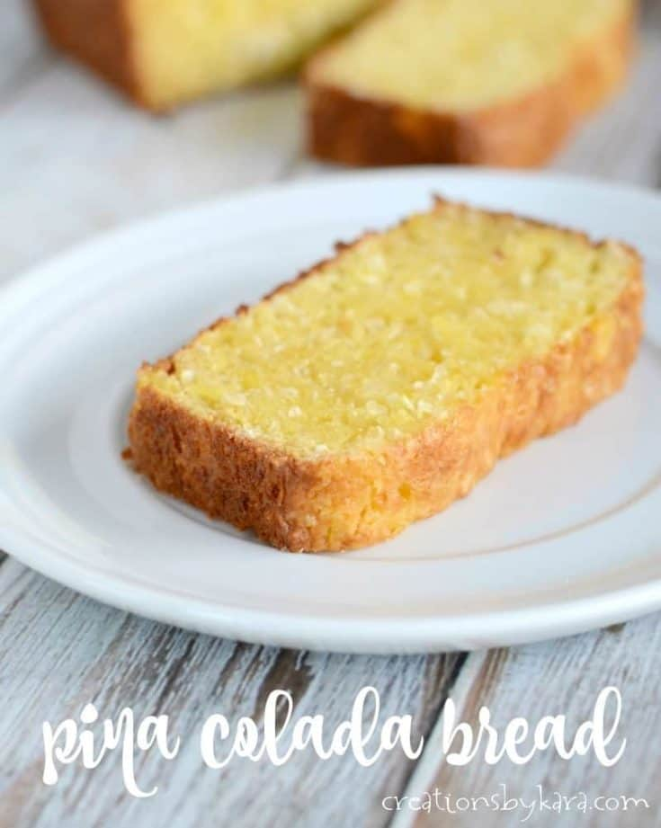 Pina Colada Bread - this Hawaiian bread has no added fat, but it is still moist and delicious!