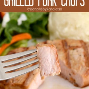 best juicy grilled pork chops Pinterest Pin