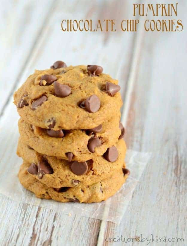 Best ever pumpkin chocolate chip cookies. These pumpkin cookies are so soft and fluffy!