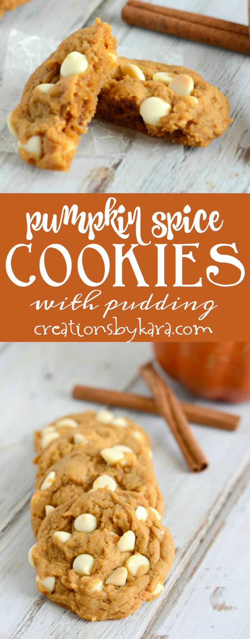 Pudding mix makes these Pumpkin Spice Cookies extra soft and yummy! A no-fail cookie recipe that is perfect for fall.