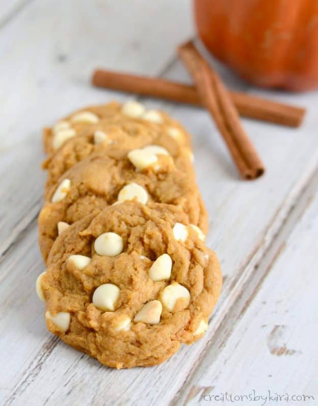 Soft pumpkin spice cookies are the perfect recipe for fall gatherings. Everyone loves them!