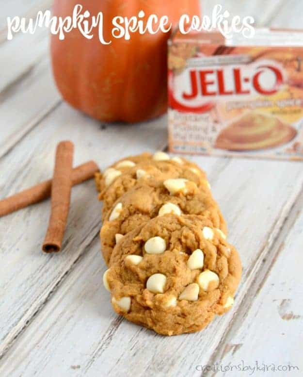Soft pumpkin cookies with just the right amount of spice. Everyone loves these pumpkin spice cookies!