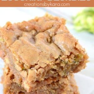 chewy zucchini blondies with butterscotch chips