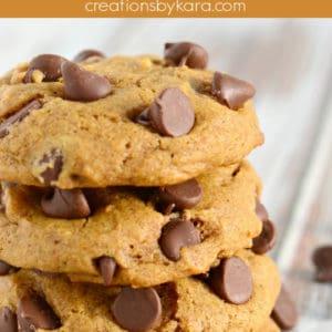 soft pumpkin chocolate chip cookies recipe pinterest pin
