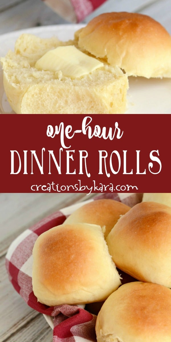 one hour dinner rolls recipe collage