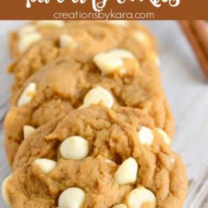 white chocolate pumpkin spice cookies pinterest pin