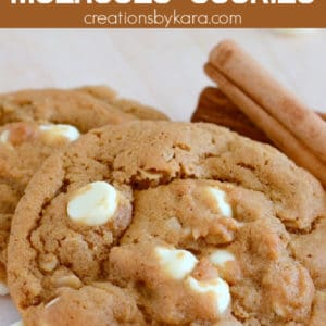 molasses cookies with white chocolate
