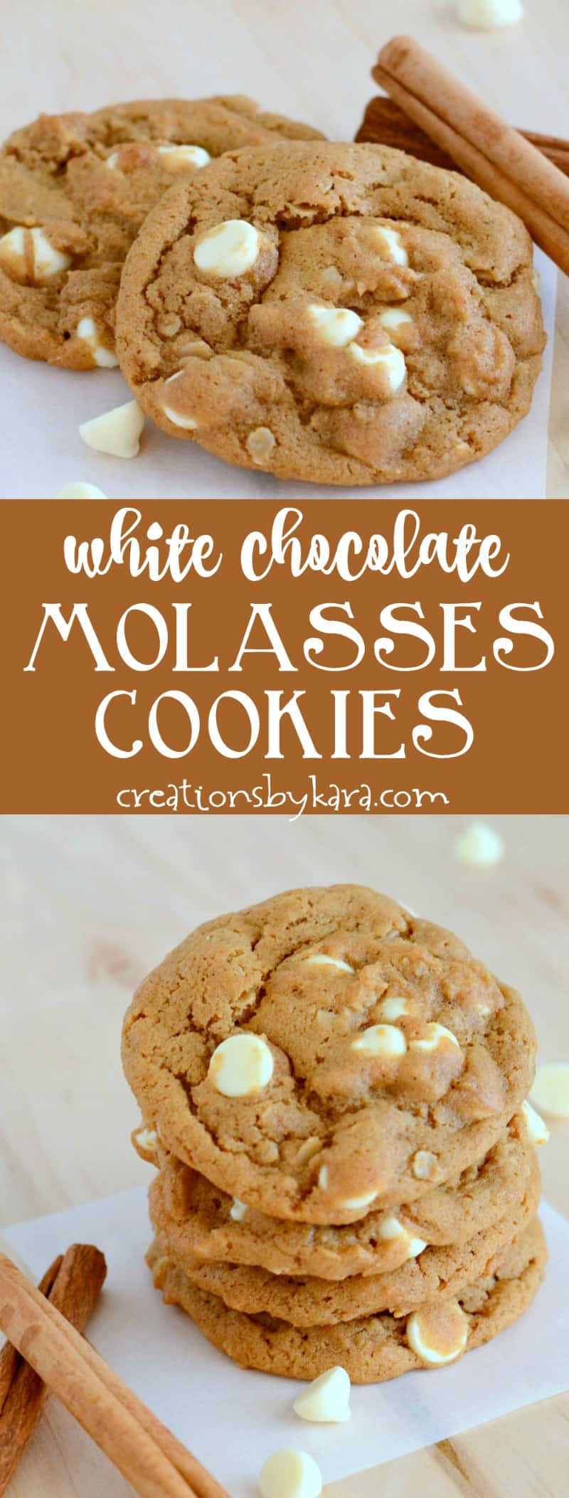 Soft and chewy, these Molasses Cookies have the perfect amount of spice. A yummy holiday cookie recipe!