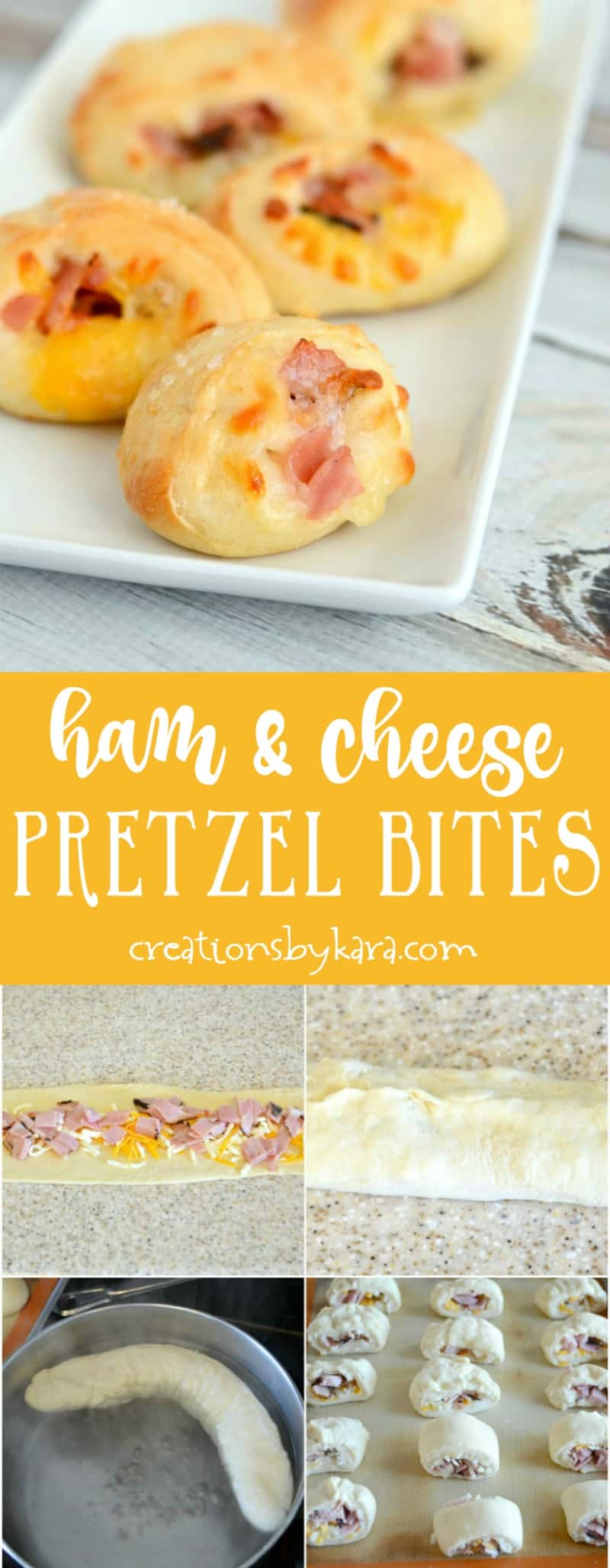 Ham and Cheese Pretzel Bites - everyone loves these appetizers! They are a perfect appetizer recipe for any occasion.