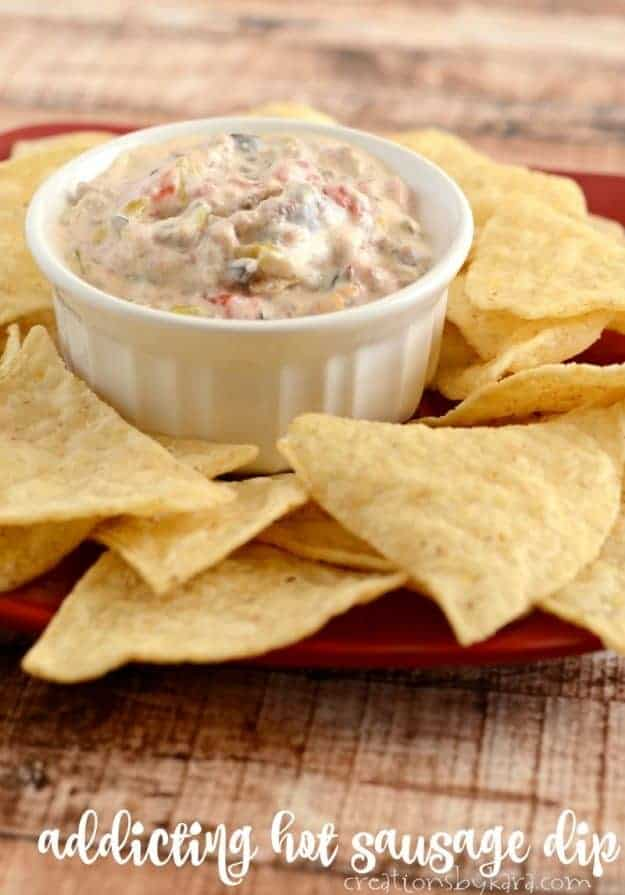 Addicting hot sausage dip -this slightly spicy dip isn't pretty, but no one can resist it!