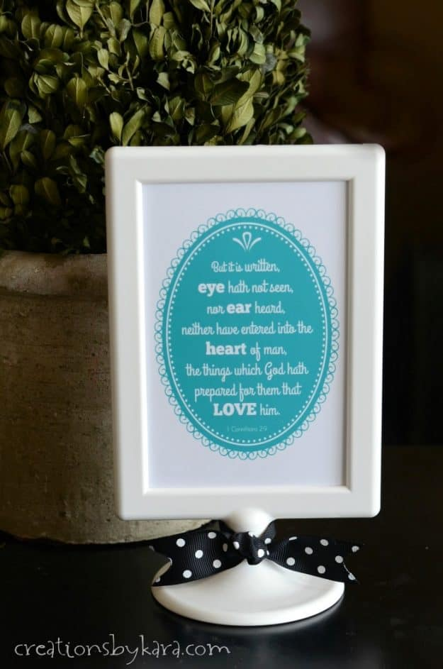 1 Corinthians 2:9 - use this free printable scripture for Sunday School, or frame it for pretty home decor.