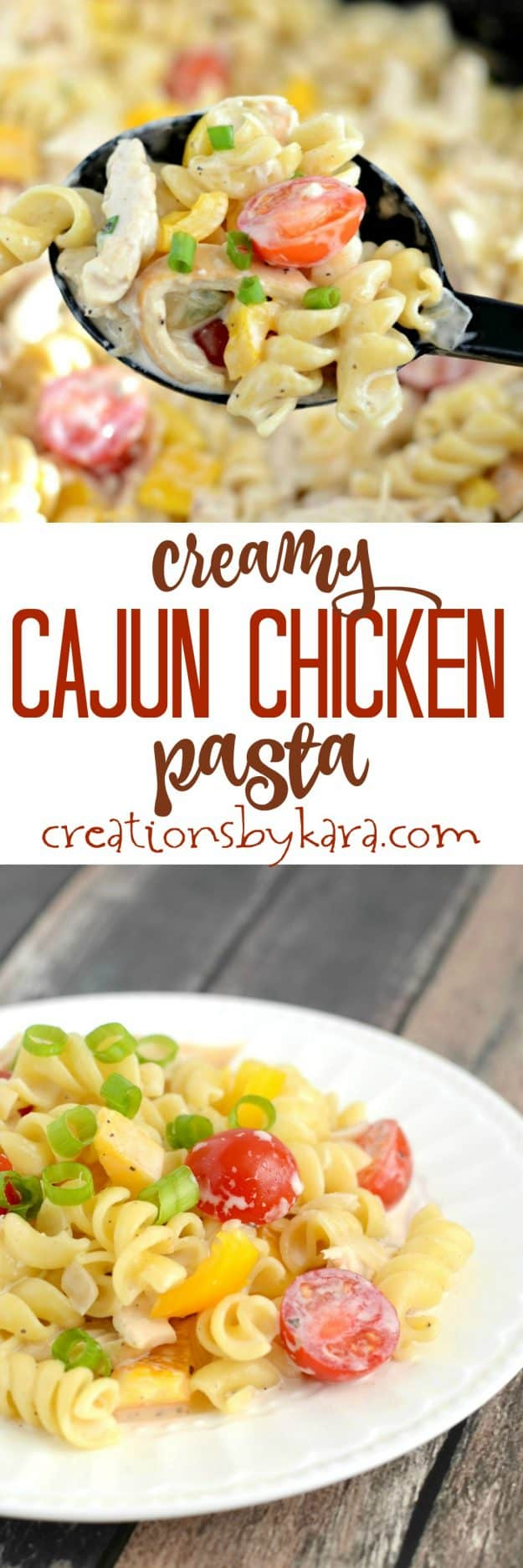 Recipe for Creamy Cajun Chicken Pasta. If you love alfredo, give this spicy pasta a try. It is incredible, and easy to make!