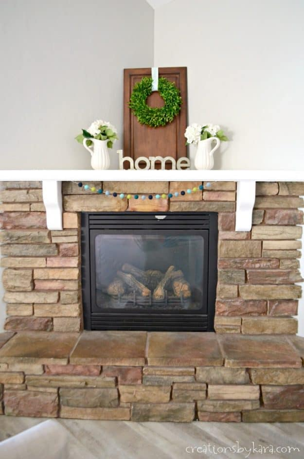 Fireplace makeover with sherwin williams paint