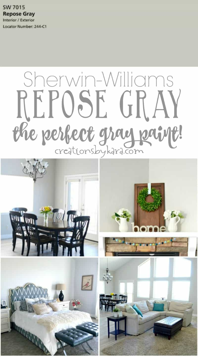 My Favorite Gray Paint Sherwin Williams Repose Gray