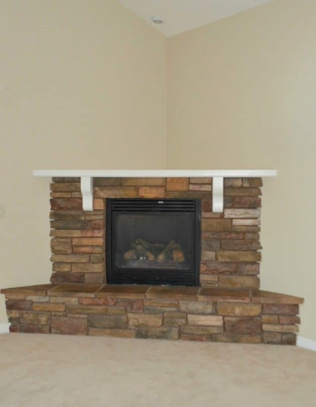 fireplace walls makeover