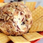 Recipe for cheese ball with orange and cranberries. A tasty appetizer!