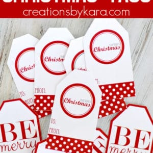 red and white christmas tags pinterest collage