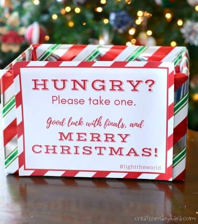 Help out some starving college students this Christmas Season | Christmas Service idea | Christ centered Christmas #lighttheworld