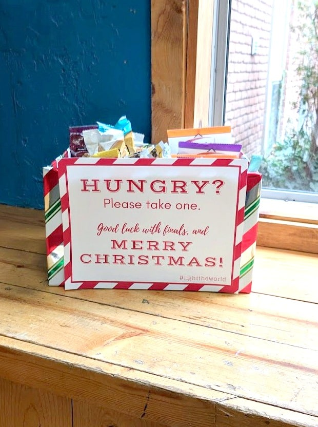 Christlike Christmas idea - feed the hungry free printable