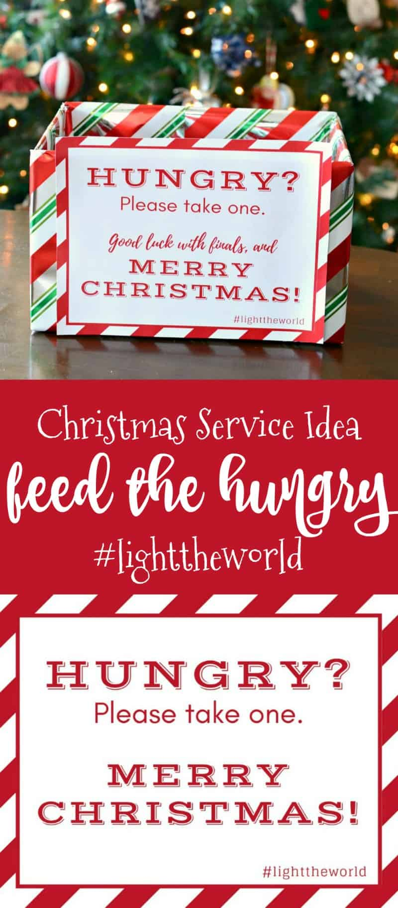 Feed the Hungry this Christmas - snack box | Christ centered Christmas | A fun family Christmas activity that celebrates the true meaning of Christmas #lighttheworld #christmas #freeprintable
