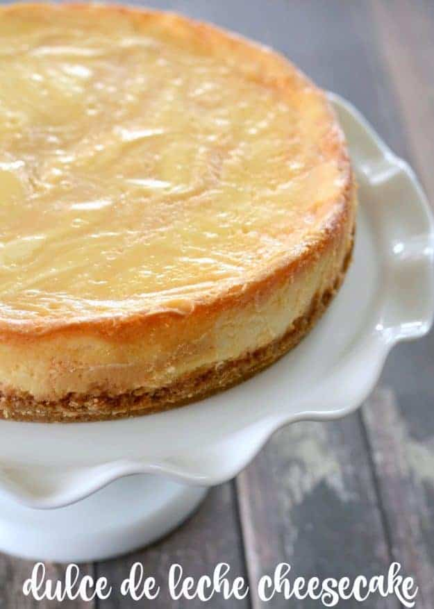 Dulce de Leche Cheesecake - this rich and creamy cheesecake is a caramel lovers dream.
